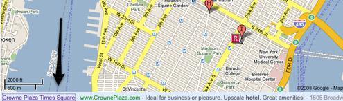 Включена текстовая реклама на Google Maps