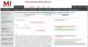 Простой метод оценки релевантности страницы