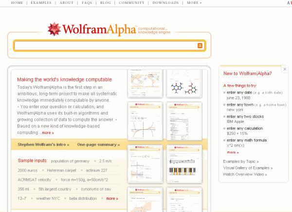 «Вольфрамовый» поисковый сервис уже ищет ответы на вопросы пользователей