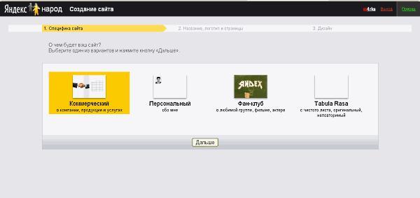 Яндекс разработал комплексный инструмент для создания сайтов на «Народ.ру»